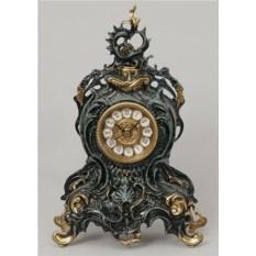 Часы с завитком из бронзы