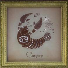 Картина с кристаллами Сваровски Рак малый
