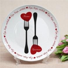 Именная тарелка Две вилочки