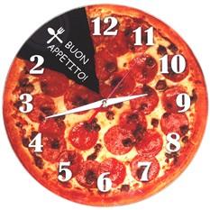 Античасы стеклянные Пицца