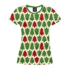 Женская футболка Елочки