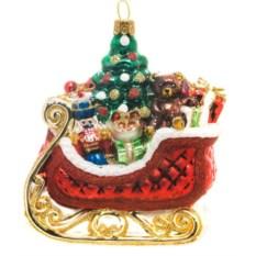 Ёлочная игрушка Сани с подарками