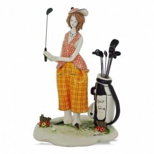 Коллекционная фарфоровая статуэтка Гольфист