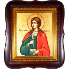 Александра Анкирская, дева, мученица. Икона на холсте.