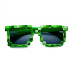 Зеленые солнцезащитные пиксельные очки Minecraft