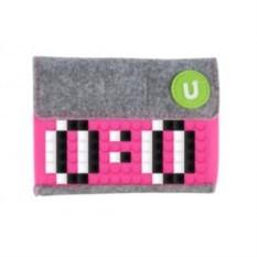 Пиксельный кошелек Pixel felt small wallet (цвет: фуксия)