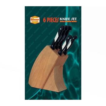 Набор из 5 ножей в деревянной подставке IDEAL