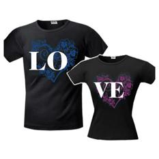 Футболки для влюбленных LO/VE