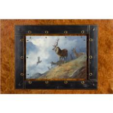 Картина из кожи Благородный олень Арчибальд Торбёрн