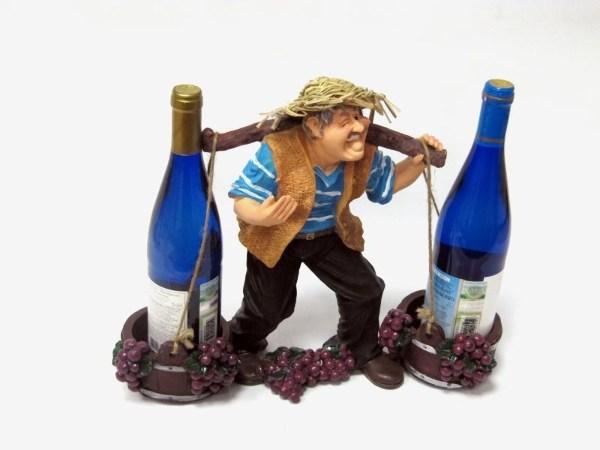 Подставка для бутылок Фермер с коромыслом