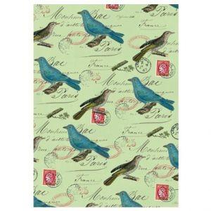 Оберточная бумага Blue Bird on Green Letter