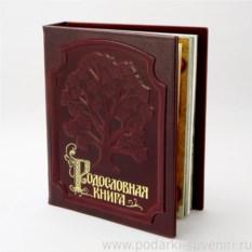 Родословная книга в кожаной обложке Изысканная