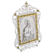 Латунная настольная икона Господь Вседержитель