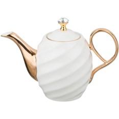 Белый заварочный чайник, объем 1200 мл