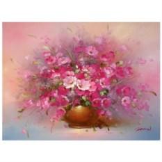 Картина-раскраска по номерам Розовые цветы