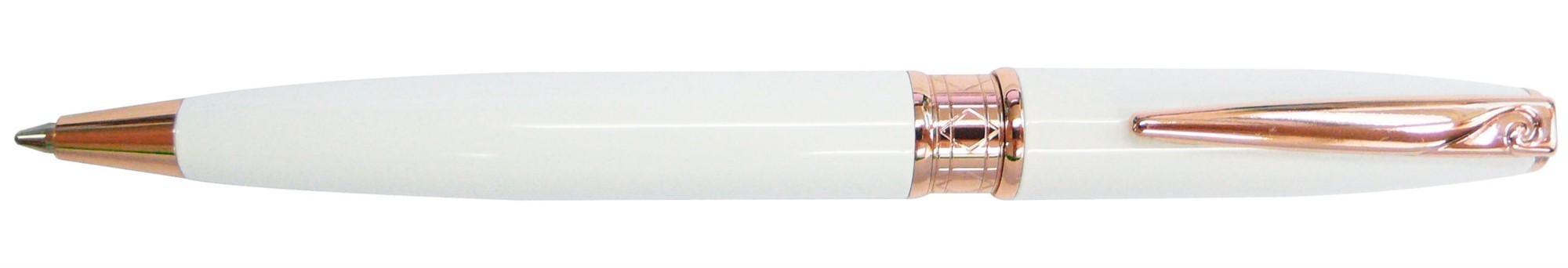 Белая с золотом шариковая ручка-мини Pierre Cardin Secret
