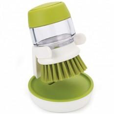 Зеленая щетка с дозатором моющего средства Palm Scrub