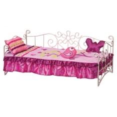 Металлическая кровать для куклы 46см
