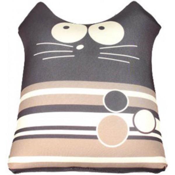 Игрушка антистрессовая Кот полосатик коричневый