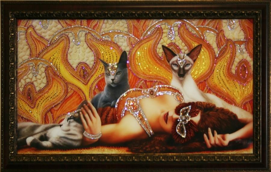 Картина с кристаллами Сваровски Роскошь