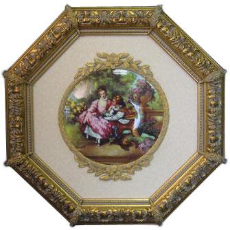 Панно-картина фарфоровая «Кокетка»