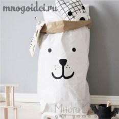 Эко-мешок для игрушек из крафт бумаги Сладкая мордочка