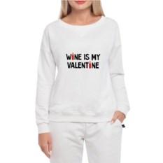 Женский свитшот Vine is my Valentine