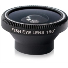 Объектив для iPhone и любого телефона Classic Fisheye Black