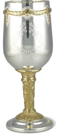 Серебряный бокал винный с эксклюзивной ручной гравировкой
