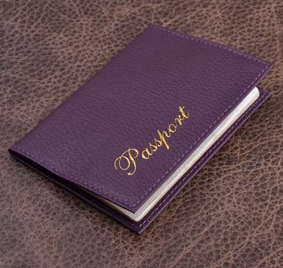 Обложка для паспорта. Коллекция Eclat (фиолетовый; тип 1; нат. кожа)