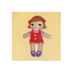 Набор для шитья из фетра Кукла в красном платье