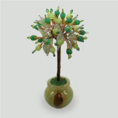 Дерево счастья из оникса и нефрита