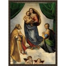 Репродукция на холсте Рафаэля «Сикстинская Мадонна» в багете