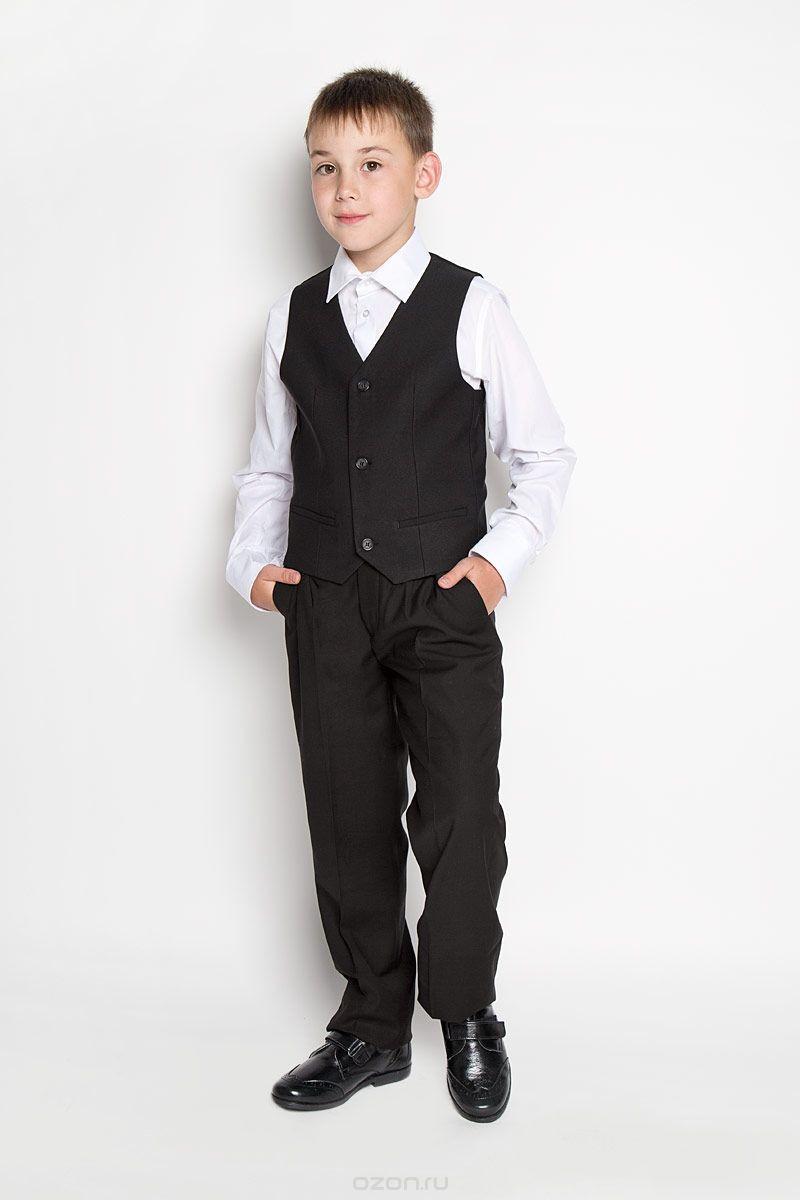 Классический черный жилет для мальчика Orby School