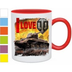 Кружка I love world of tanks