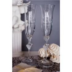 Набор свадебных бокалов с вашим текстом Mr & Mrs Y