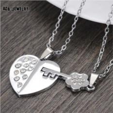 Кулон для двоих Сердце и ключ