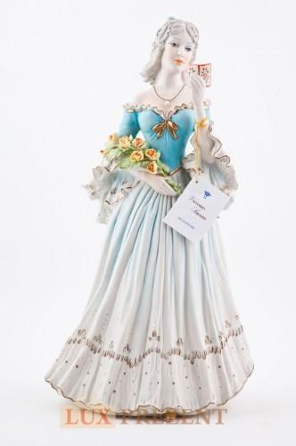 Фарфоровая статуэтка ''Дама XIX века'' (золото)