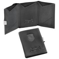 Черный кошелек S.Quire из натуральной матовой кожи