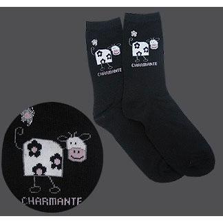 Носки черные «Корова»