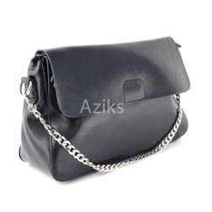 Черная женская сумка на цепочке