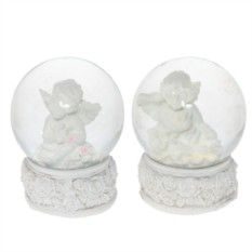 Фигурка в стеклянном шаре Ангел (цвет — белый)