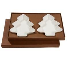 Набор тарелок для закусок Елочка в подарочной упаковке