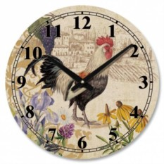 Круглые настенные часы Петух