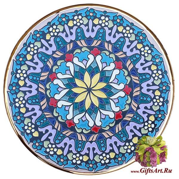 Настенная керамическая тарелка, расписанная вручную