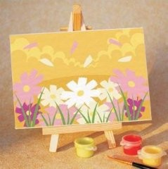 Раскраска по номерам на холсте  Цветы