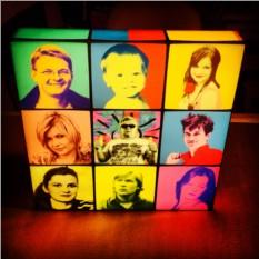 Дизайнерский 3D светильник Коллаж из поп-арт портретов