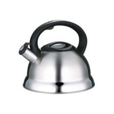 Металлический чайник с зеркальной полосой 2,7л DeLuxe Bekker