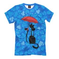 Голубая мужская футболка Влюбленные