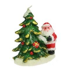 Новогодняя свеча Дед Мороз с ёлочкой